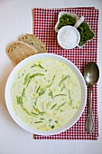 Cheese soup with chives