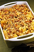 Macaroni cheese in baking dish