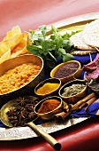 Dal and various spices (India)