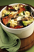 Vegetable bake with bacon and cheese