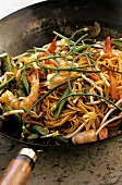Singapore noodles with prawns (Asia)