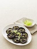 Grilled mushrooms in Asian marinade