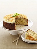 Banana and coconut cake with lime