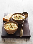 Zuppa di ceci (chickpea soup with fennel and leek)