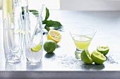 Ingredients for lime drinks