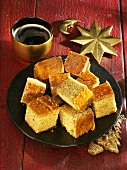 Lucerne gingerbread, cut into squares (Christmas)