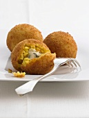 Arancini (deep-fried Italian rice balls)