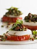 Caprese condita (Tomaten-Mozzarella mit Vinaigrette)