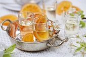 Home-made orange liqueur