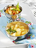Apple compote and apple ragout