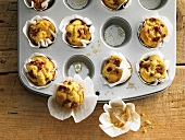 Mini muffins with Parmesan and Parma ham