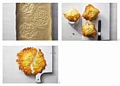 Making Parmesan wafers