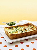 Onion tart with chives