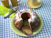 Nutty birthday cake