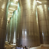Stainless steel tanks of Great Wall Winery, Shacheng, China