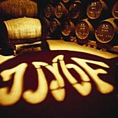 Blick in Weinkeller Jose-Maria da Fonseca, Azeitao, Portugal