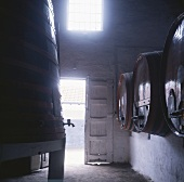 Port wine barrels of Taylor's Port, Vila Nova de Gaia, Portugal