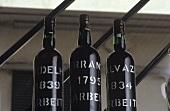 Three bottles of Madeira, Vinhos Barbeito, Funchal, Portugal