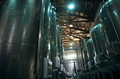 Stainless steel tanks, Braida Winery, Asti, Piedmont, Italy
