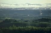 View over landscape, San Gusme, Chianti Classico, Tuscany