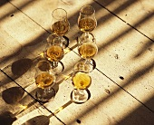 Cognac Frapin in glasses, Grande Champagne, Cognac, France