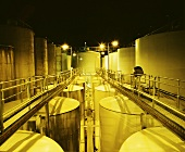 Steel tanks, Lindemans Karadoc Winery, Victoria, Australia