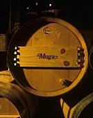Wine barrel, Bodegas Muga, Haro, Rioja Alta, Rioja, Spain