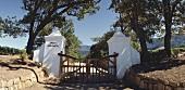 Gate to Groot Constantia Estate, Constantia, S. Africa