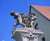 Detail of a wine statue in Württemberg, Germany