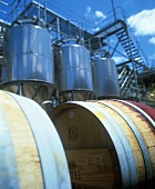 Steel tanks & barrels, Houghton Wines, Swan Valley, Australia
