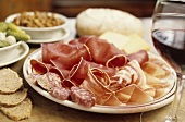 Assiette valaisanne: dried meat, sausage, bacon and cheese
