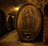 Wine cellar of FX Pichler, Loiben, Wachau, Austria