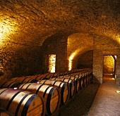 Wine cellar of Castello di Ama, Gaiole, Siena, Chianti, Tuscany, Italy