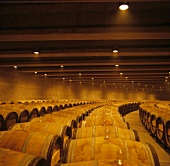 Wine cellar of famous Opus One Winery, Oakville, California