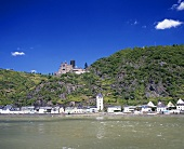 St. Goarshausen with Burg Katz, Middle Rhine, Germany