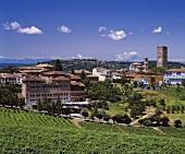 Barbaresco, Angelo Gaja's winery on the left, Piedmont, Italy