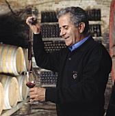 Elio Altare in wine cellar, La Morra, Piedmont, Italy