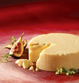 Hard cheese with figs
