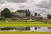 Gardens of Château Lafite-Rothschild, Pauillac, Gironde, France. (Pauillac, Bordeaux)