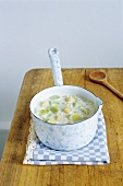 Leek and potato soup with cream