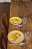 Cabbage soup with smoked haddock