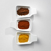 Five-spce powder, paprika and turmeric
