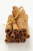 Several cinnamon sticks tied together