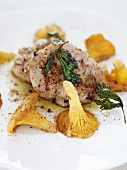 Veal sweetbread with chanterelle mushrooms