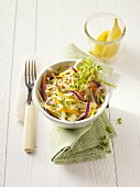 Vegetable salad with mungo beans sprouts