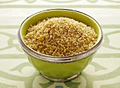 Bulgur in a green bowl