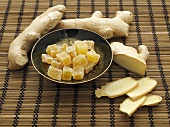 Ginger, fresh and candided