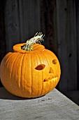 Kürbislaterne für Halloween
