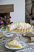 Lemon pie, sliced
