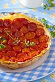 Cherry tomato puff pastry tart